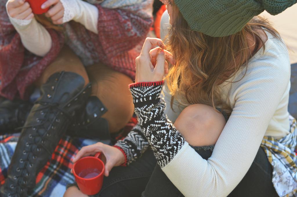 Free People Cuff Thermal Fall Camping