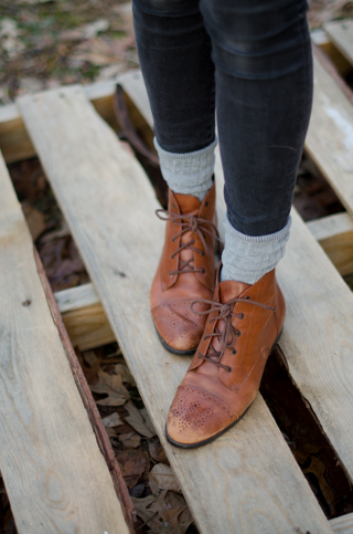 Womens Oxford Brown Boots Fall
