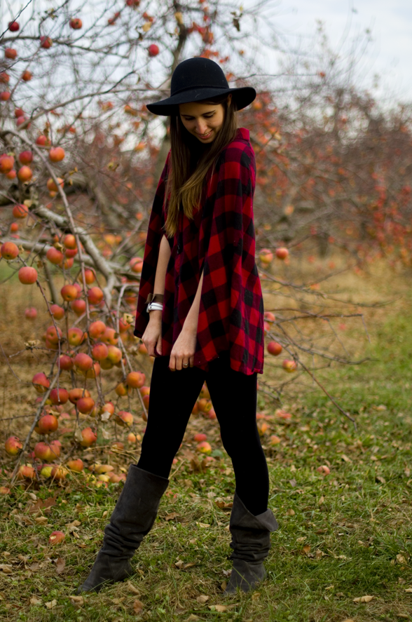 Fall Plaid Vintage Cape Styling