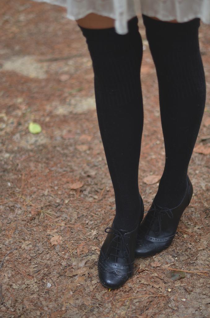 thigh high socks style
