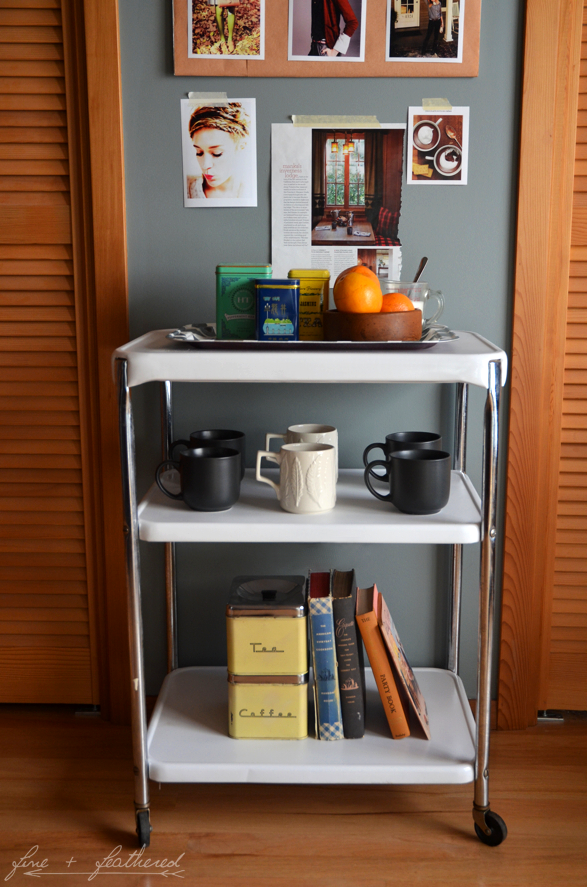 Tea Cart Refurbish DIY