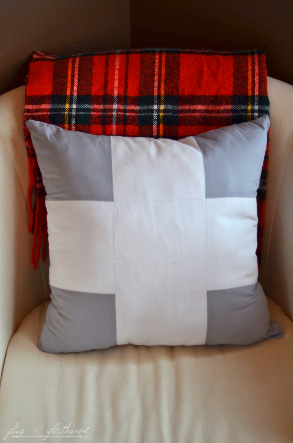 Swiss Cross Pillow DIY