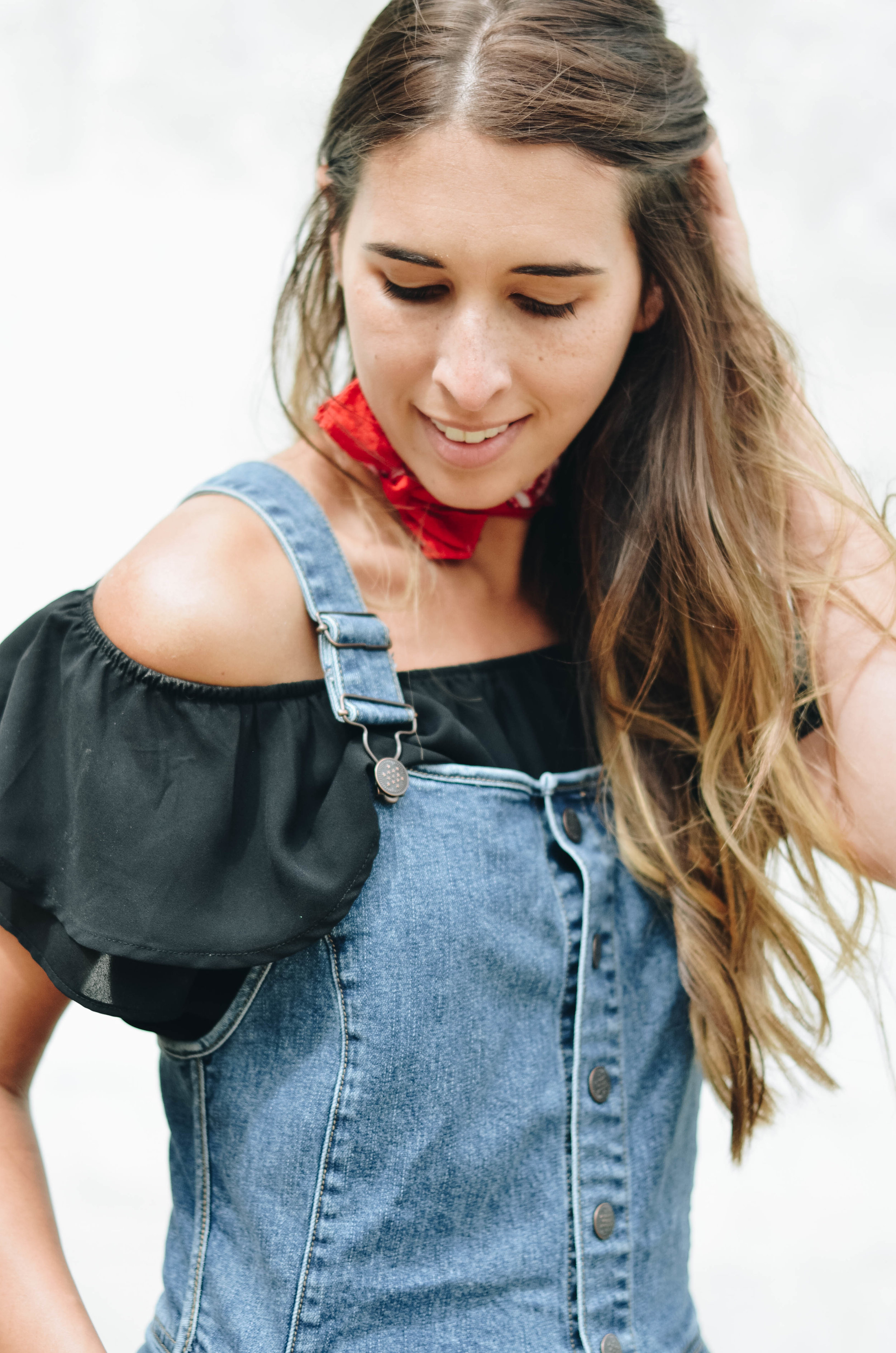 Shortalls Off the Shoulder Top Style