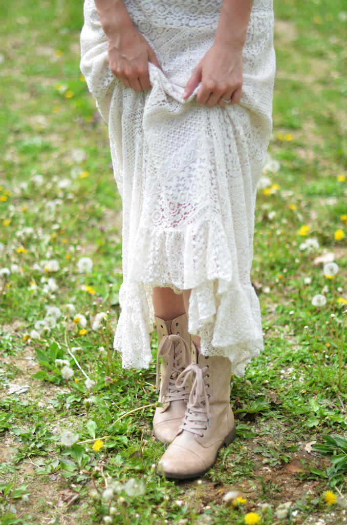 Fine and Feathered - Lace Maxi Skirt