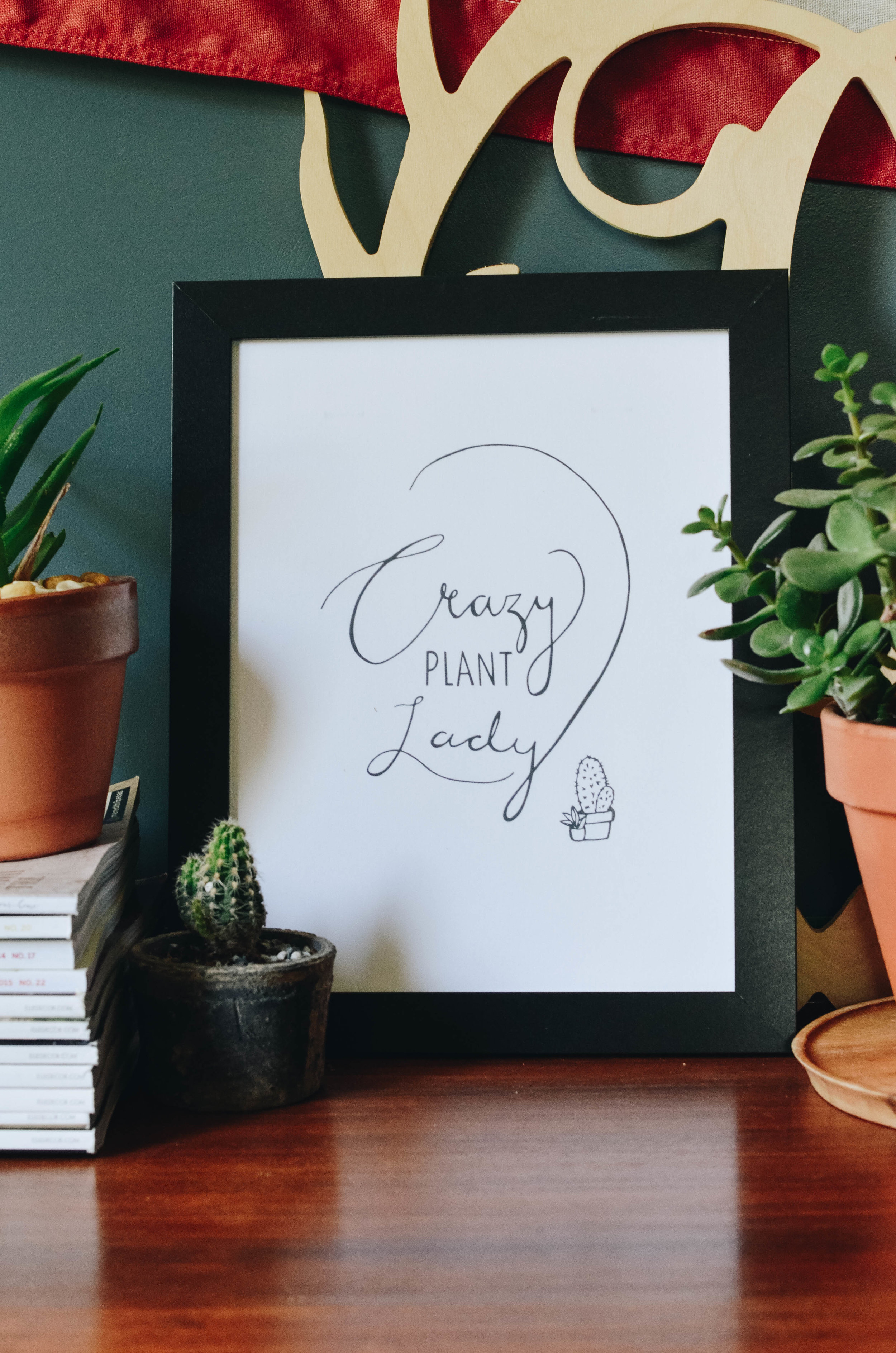 Fine and Feathered - Crazy Plant Lady Free Printable