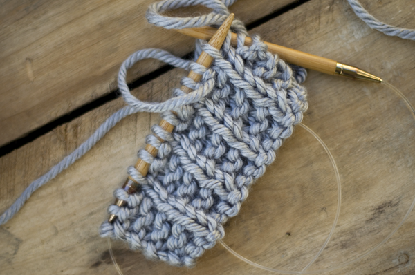 Fine and Feathered Simple Knit Infinity Scarf