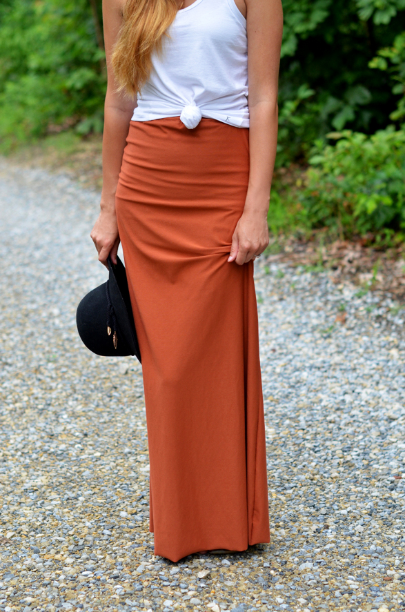 Fine and Feathered Maxi Skirt