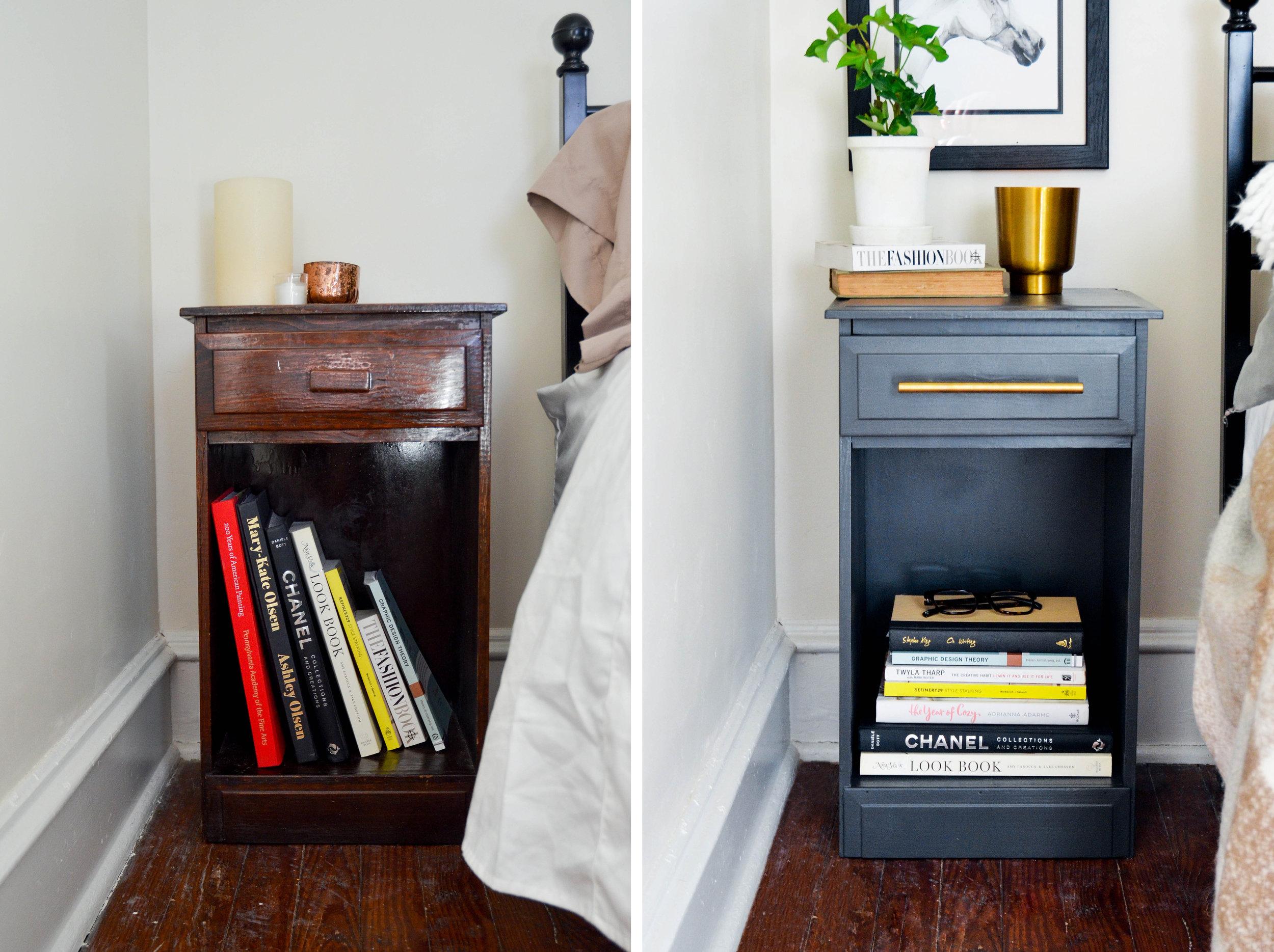 Before & After : DIY Bedside Table Makeover