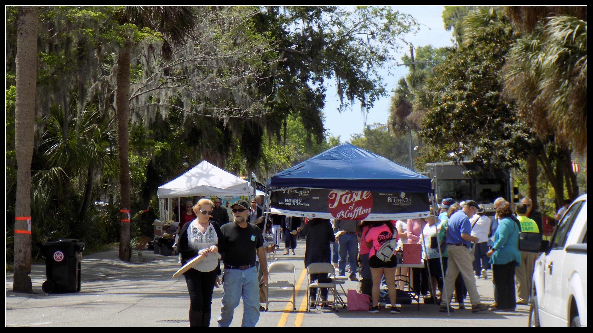 Entering the festival, which stretched down Calhoun Street in Old Town Bluffton.