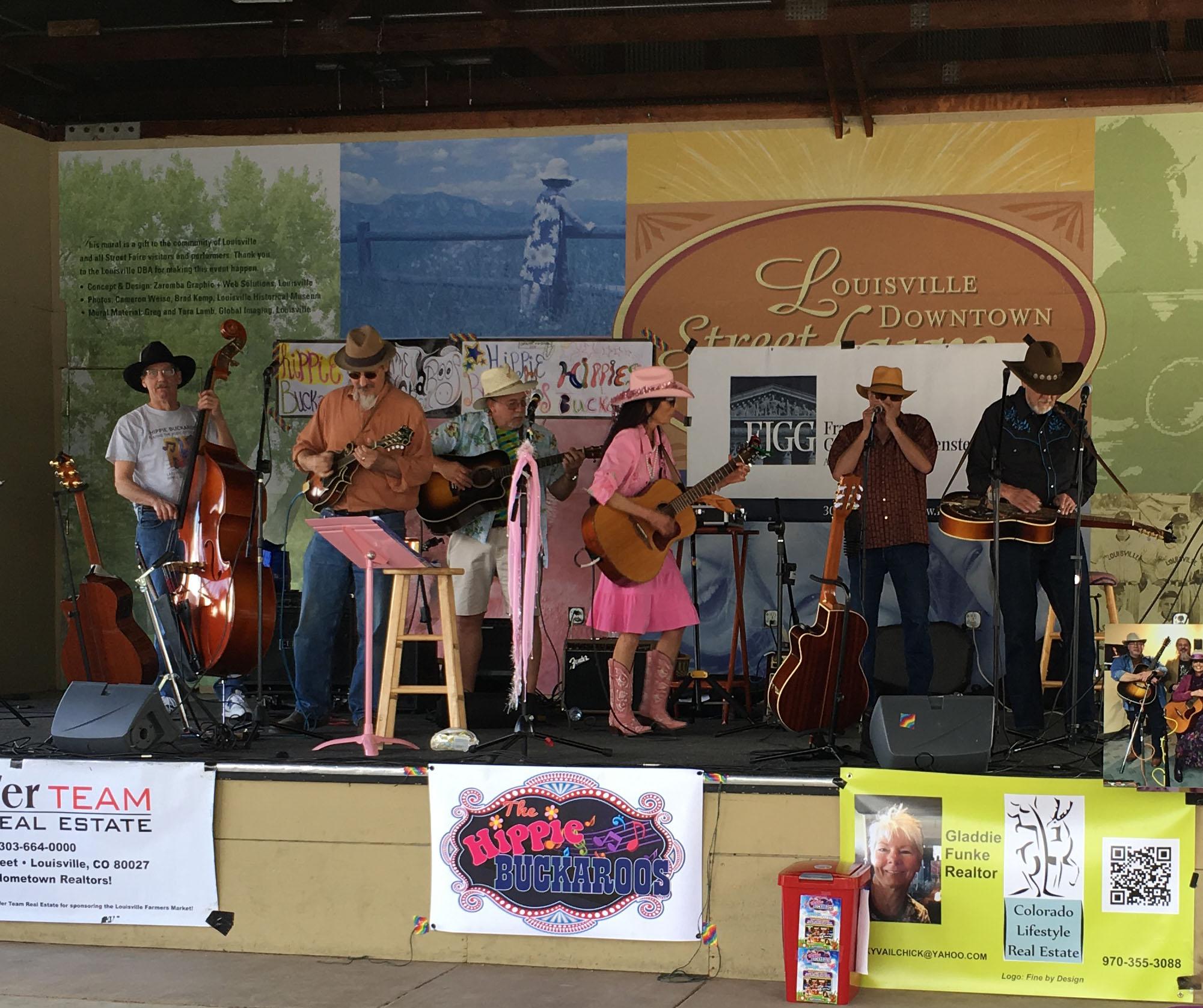 Barbara Jo & The Hippie Buckaroos perform at the Louisville Farmers Market, May 2016.