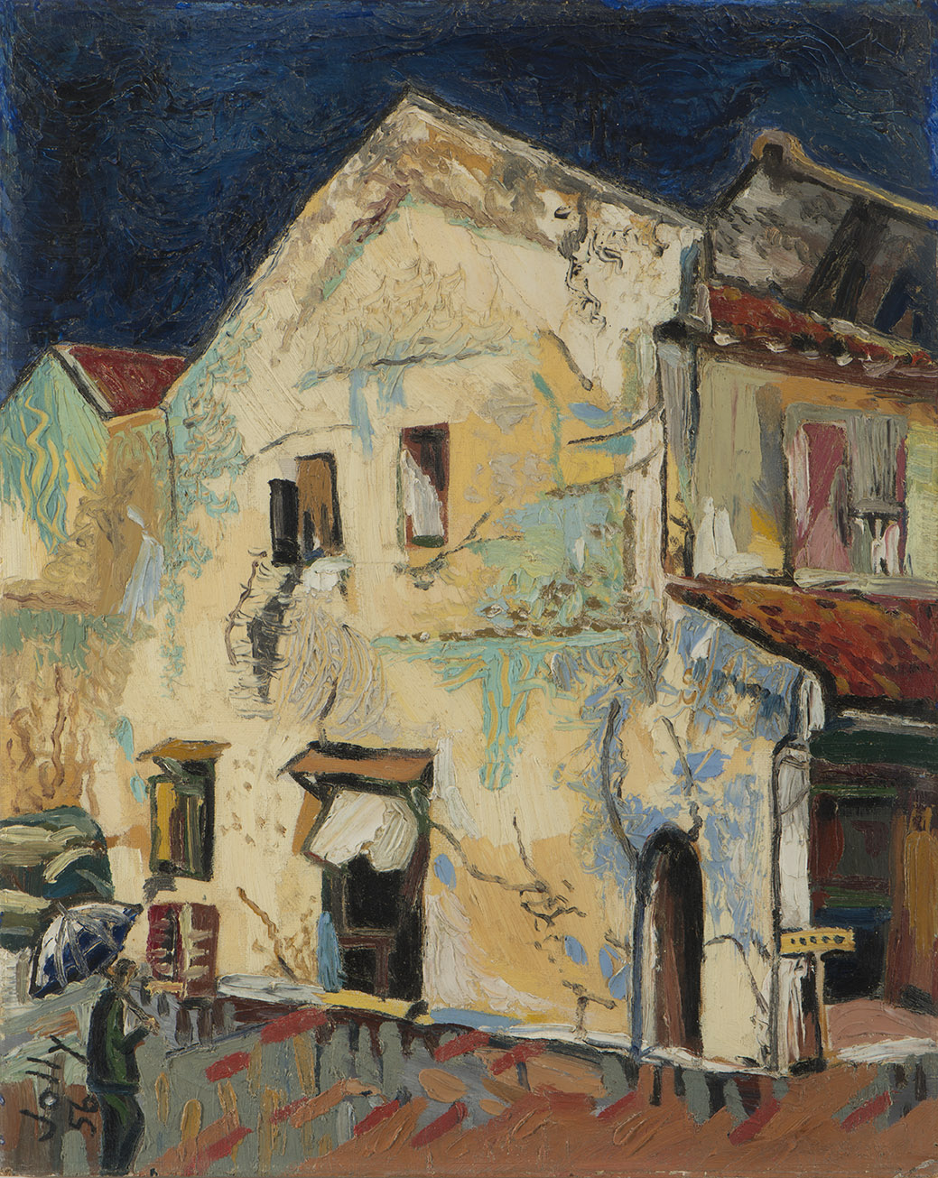 No.1 Heeren Street, Malacca, 1956, Oil on Board, 50cm x 40cm, Private Collection