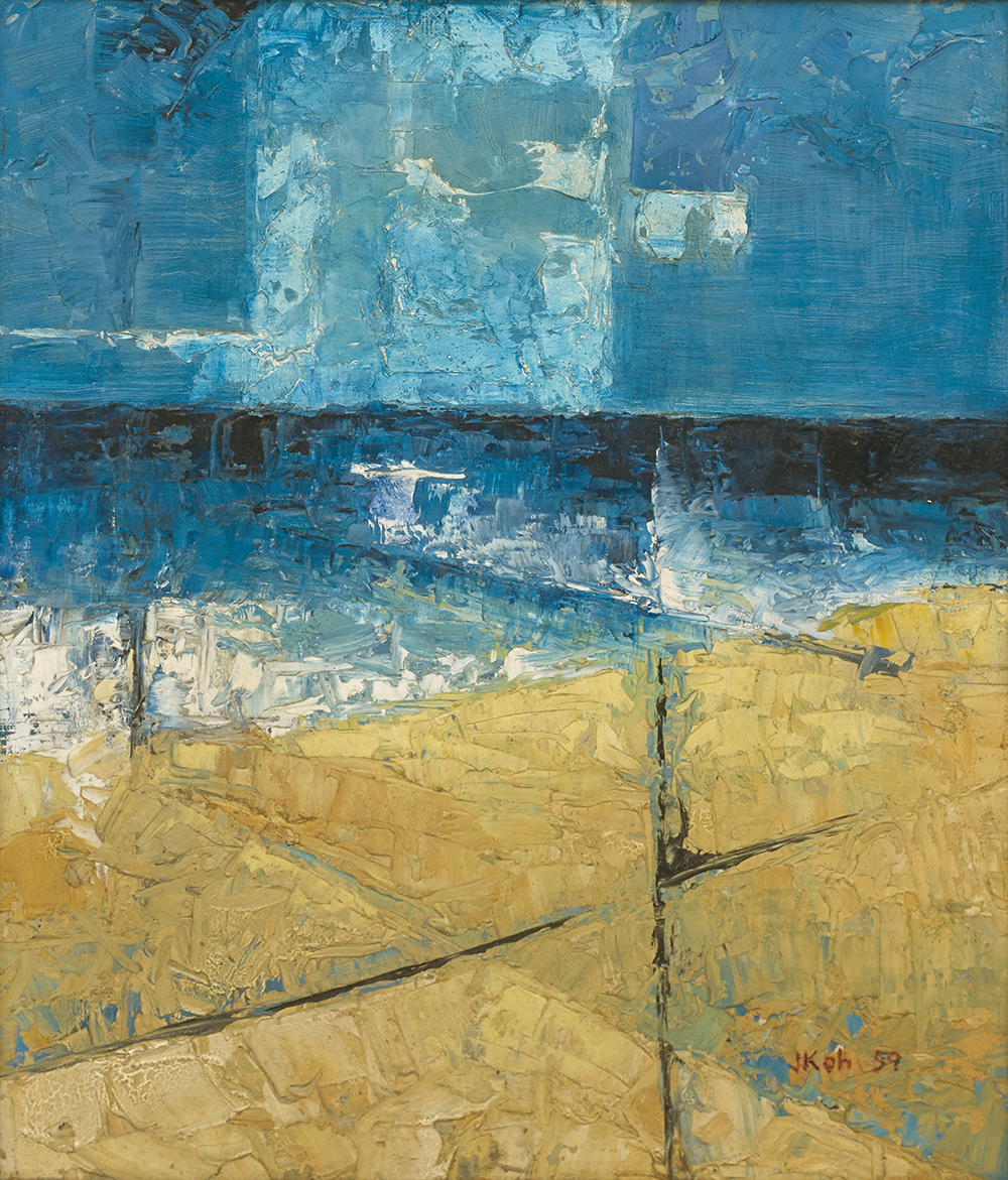 Seascape, 1959, Oil on Board, 50cm x 40cm