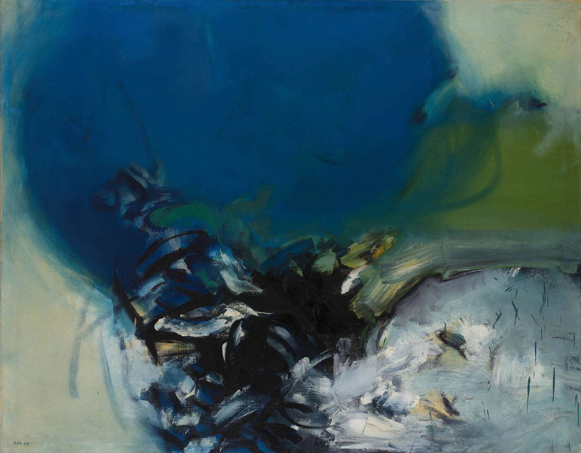 The Blue Gift, 1964, Oil on Canvas, 127cm x 101cm