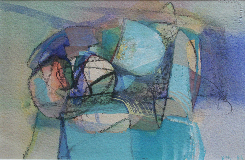 Organic Forms, 1966, Mixed Media on Paper, 24cm x 35cm, Private Collection