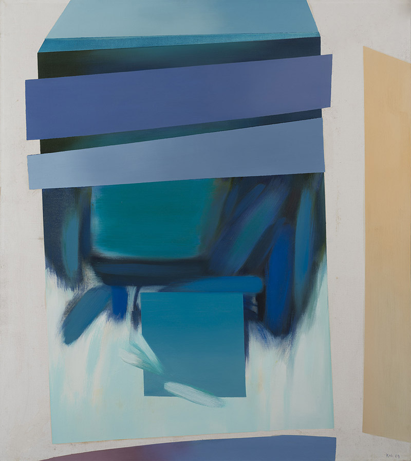 Floating Forms, II, 1969, Oil on Canvas, 127cm x 107cm