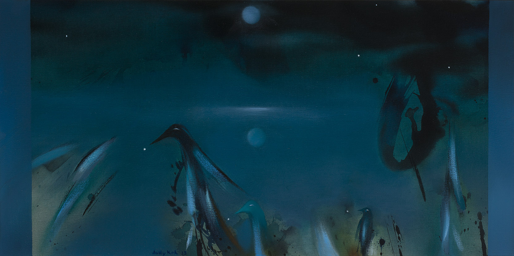 Moon Reflection & Bird