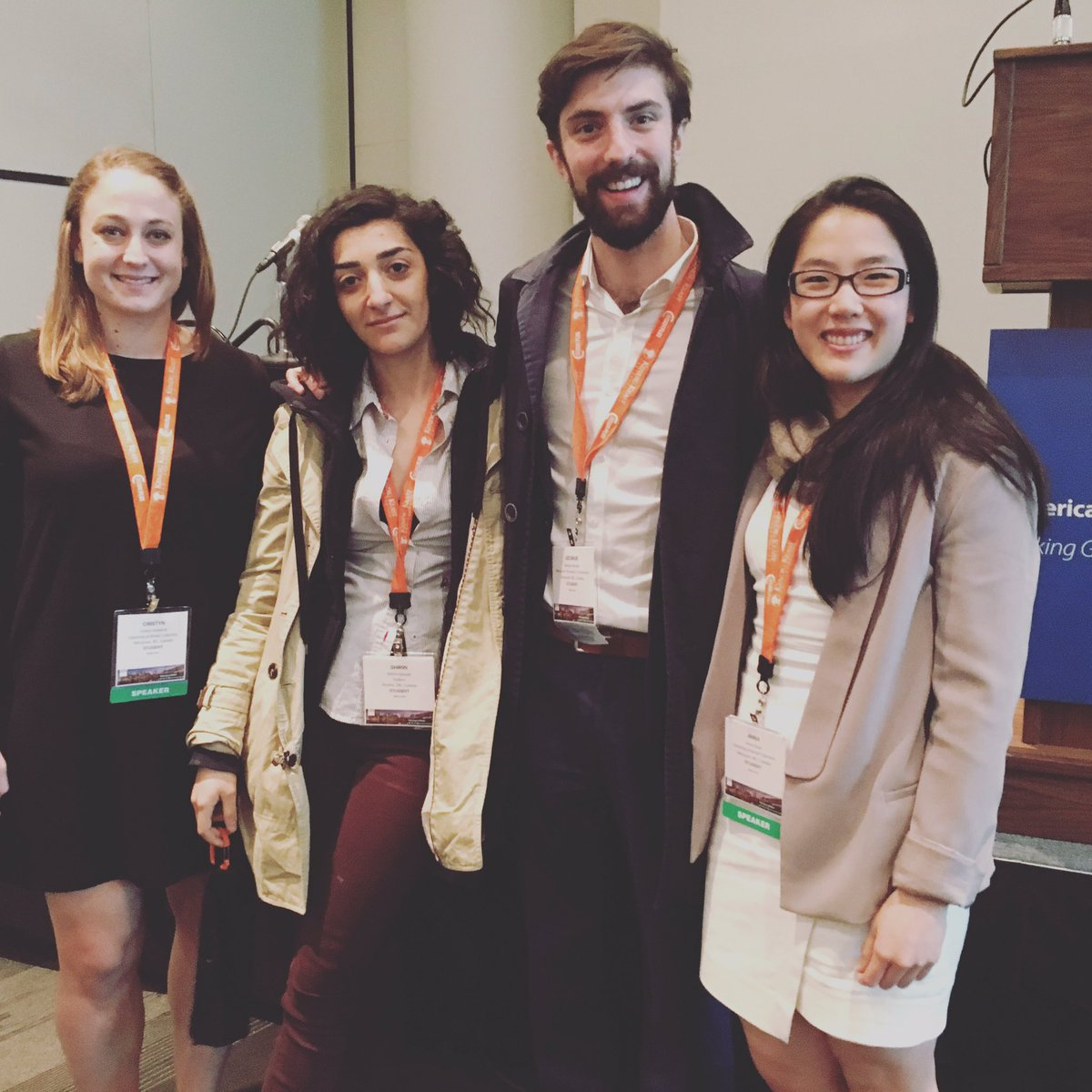 Climate Migrants and Refugees Project Team Members (L to R: Cristyn, Shirin, George, and Anna)
