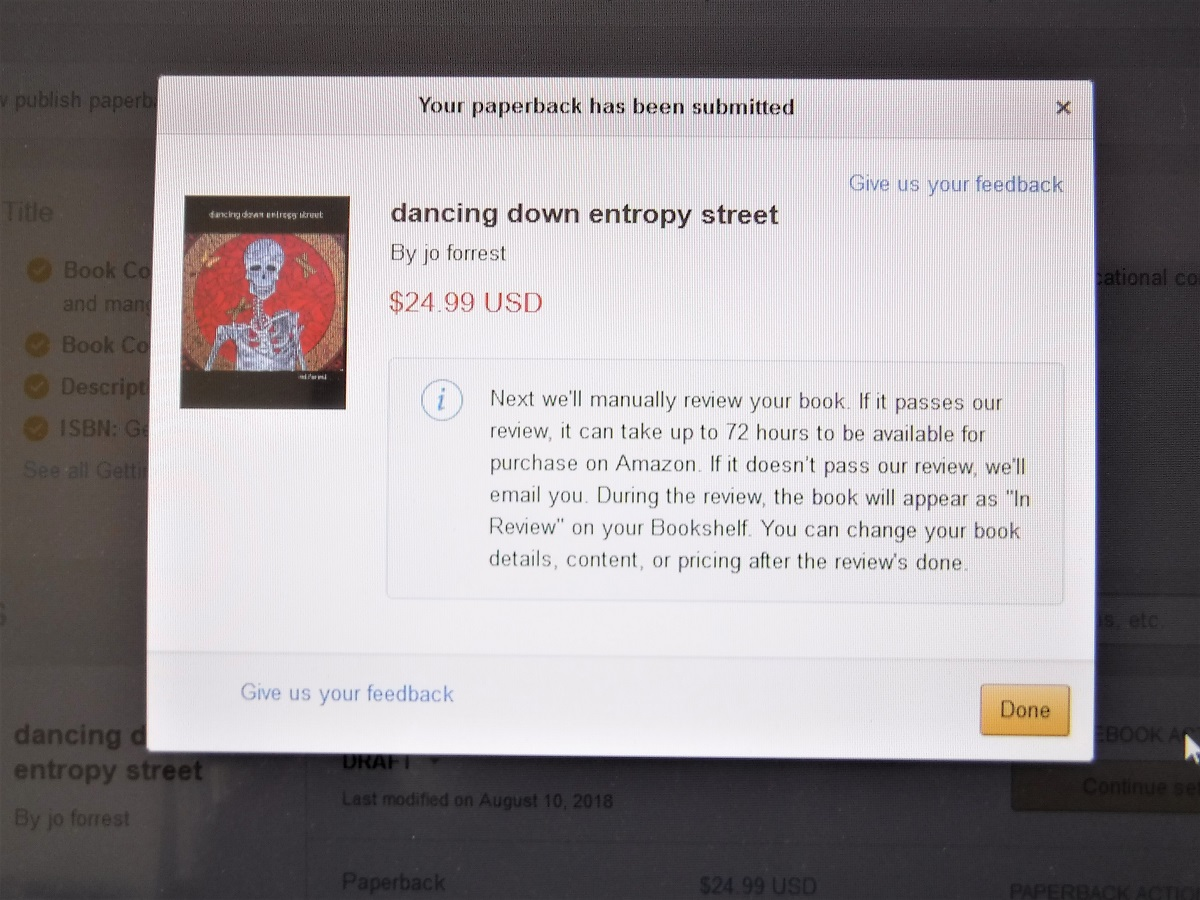 dancing down entropy street - review