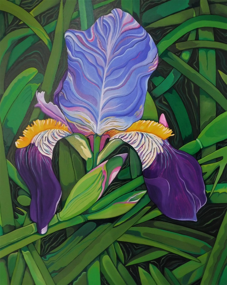 Iris painting March 13 2019