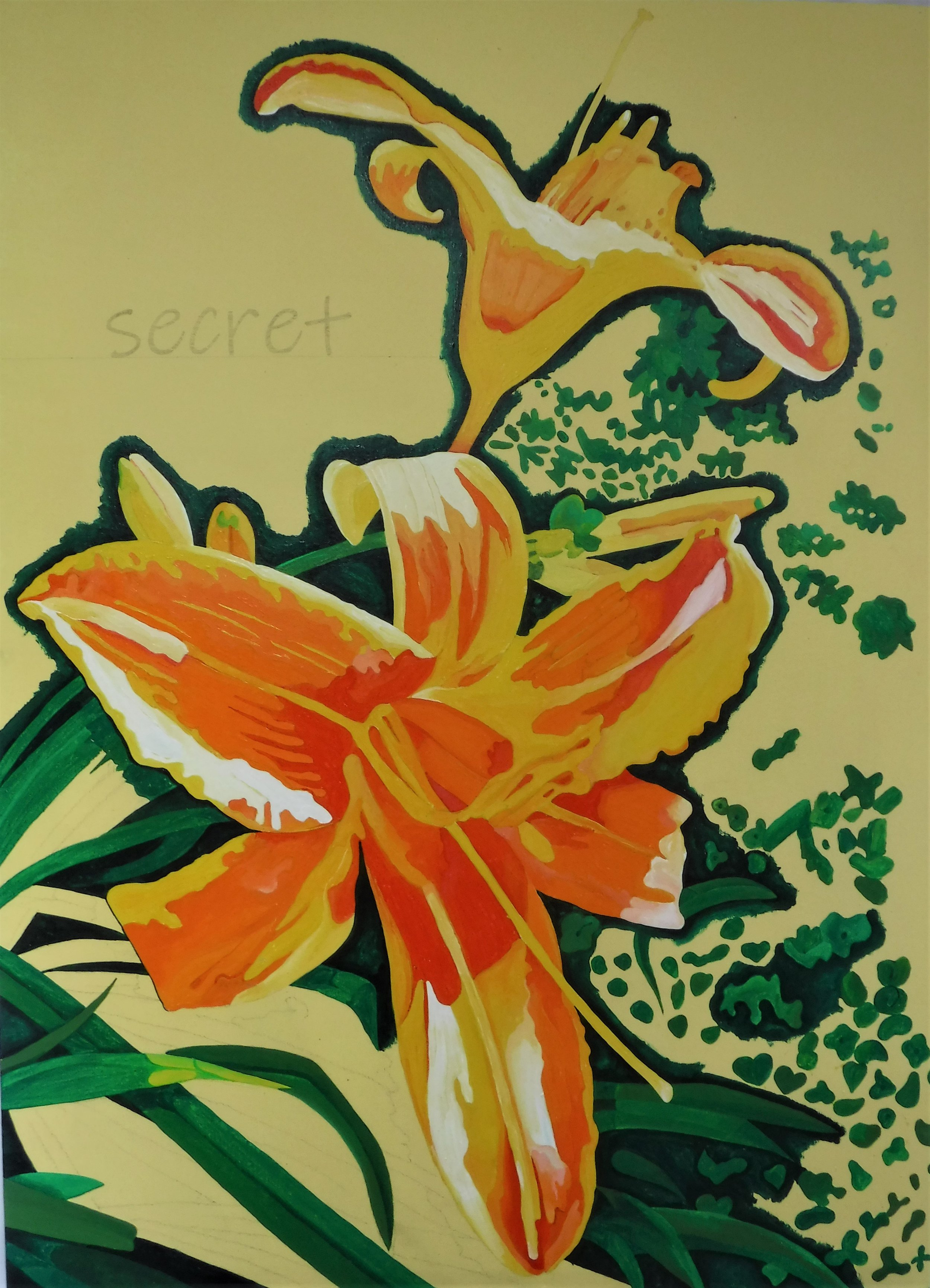 lily painting June 21 2019 Jo Forrest