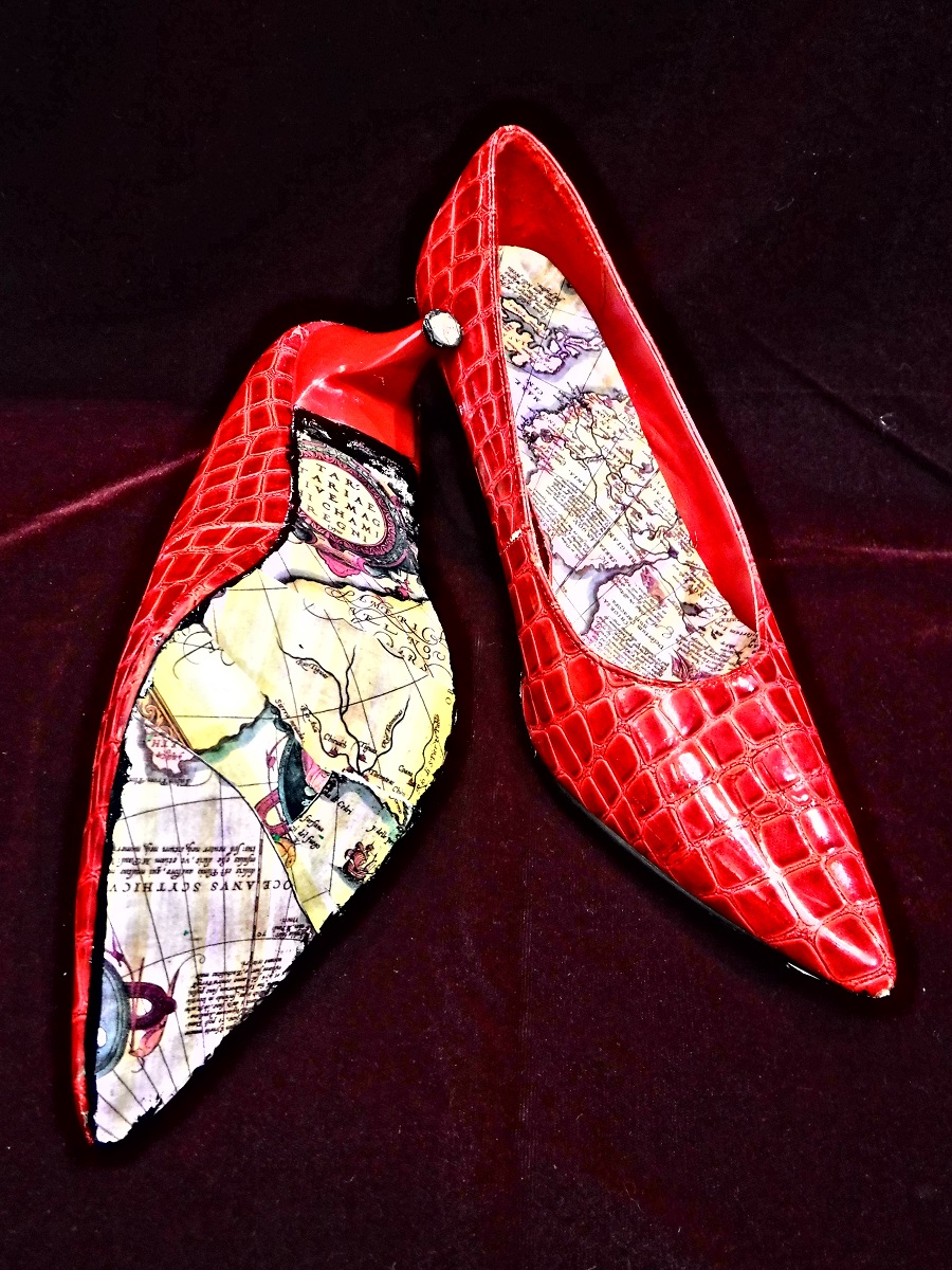 red map shoes  Jo Forrest