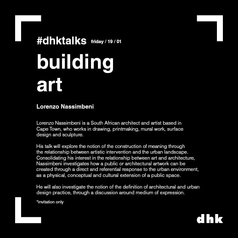 DHK April 2018   I gave a talk about my work at DHK Architects.