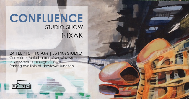 56 Pim May 2018   I gave the opening address for the exhibition entitled 'Confluence', by architect and artist NIXAK, Nicolas Sack.