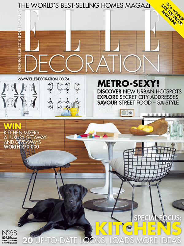 Elle Decoration SA cover December 2018   Thank you to  Elle Decoration South Africa  for selecting this cover including my artworks, as their favourite cover for 2010. The interior is of House Springthorpe. The house was designed by  Antonio Zaninovic , gifted architect of  Antonio Zaninovic Architecture Studio .   https://elledecoration.co.za/deco-turns-20-favourite-covers/