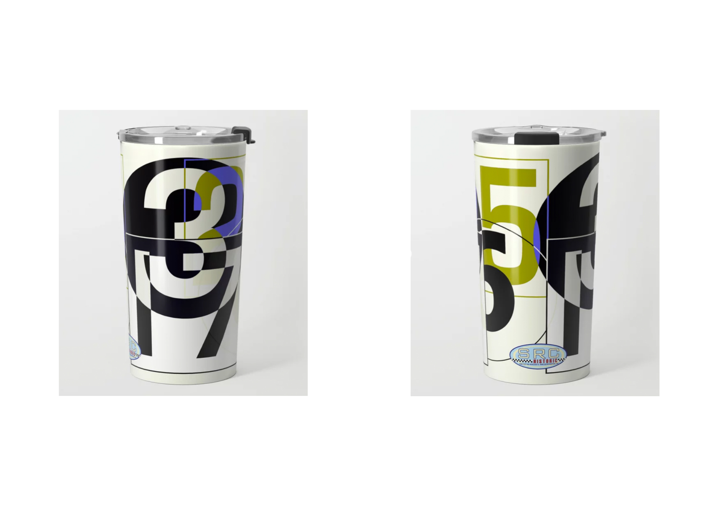 Metal Travel Mug: Race Numbers One