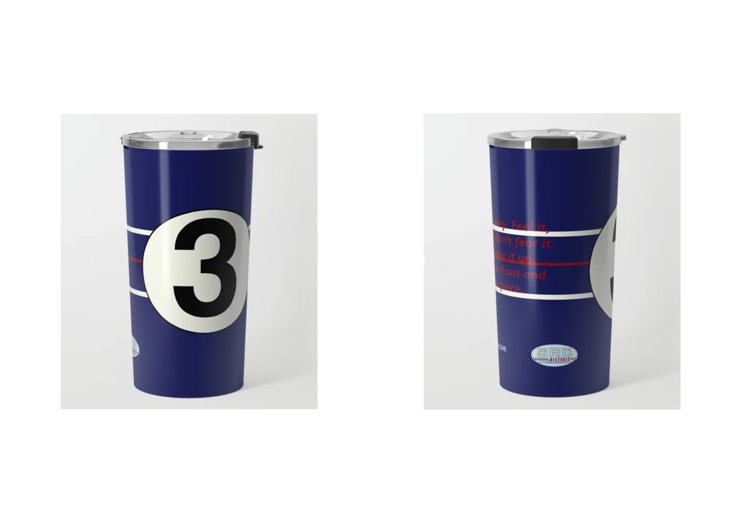 Metal travel Mug: Race Numbers 3