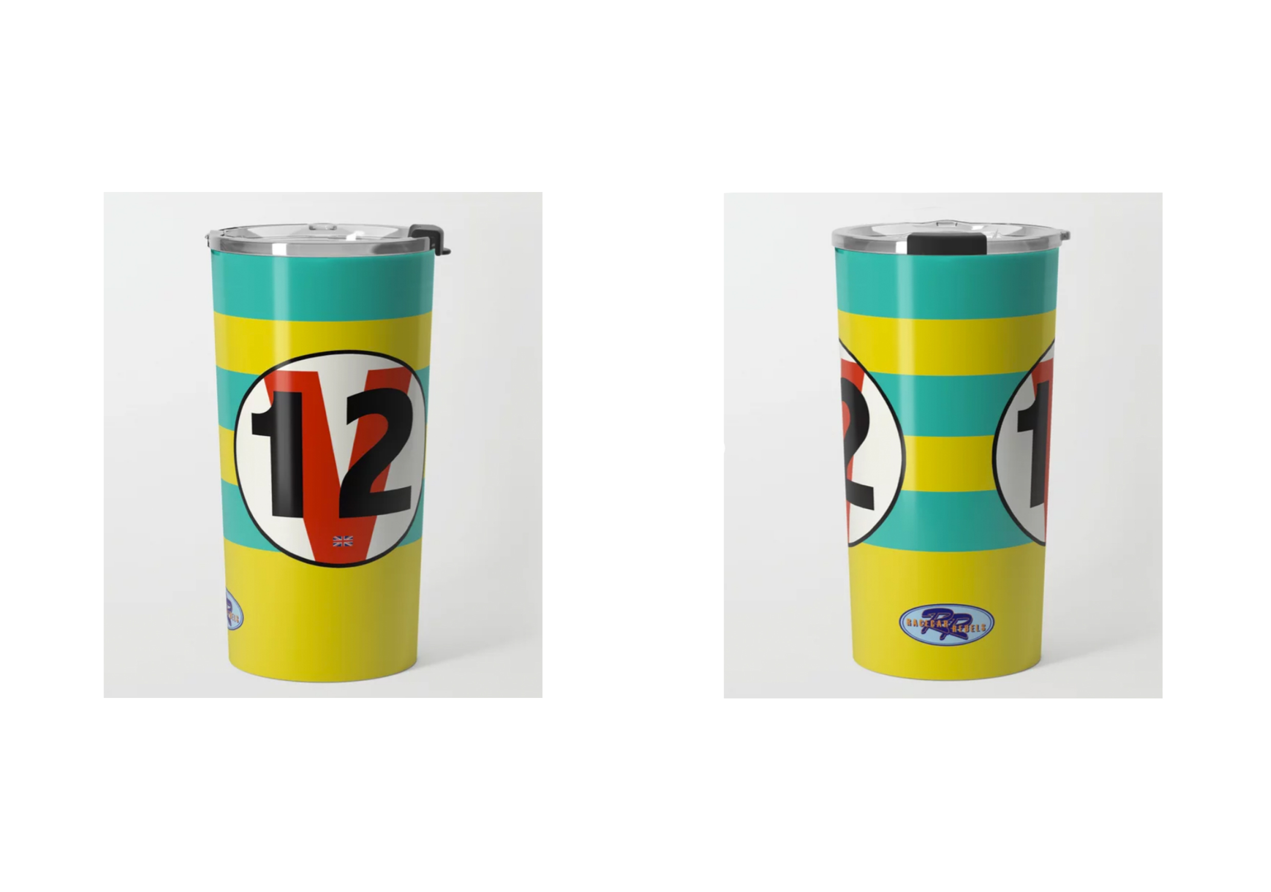 Racecar Rebels Metal Travel Mug