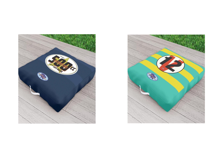 Racecar Rebels Outdoor Cushion