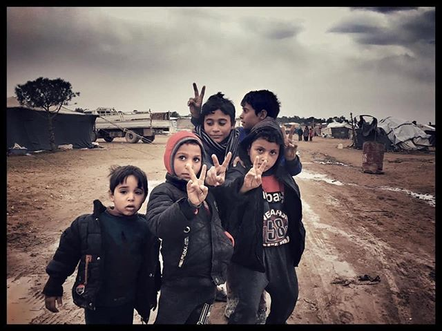 #children in a #refugee camp in northeast #syria, January this year. #Europe, do not look away.  #nofriendsbutthemountains  #ridewithus #journalism #rojava #kurdistan #redhorsecollective