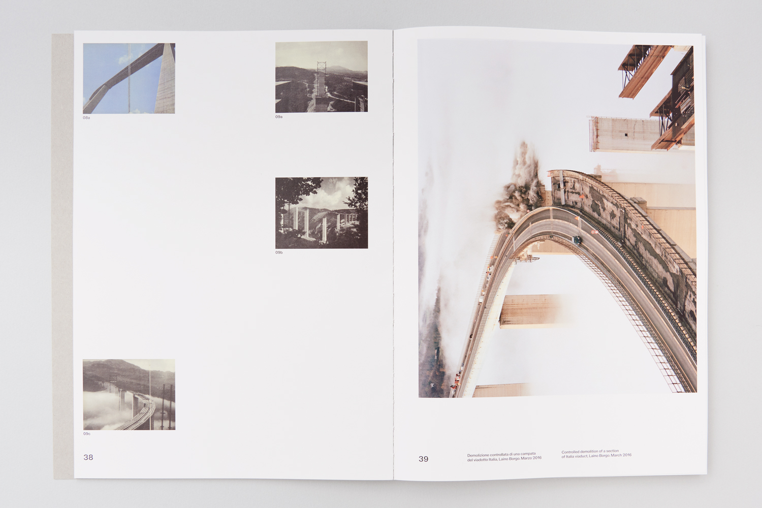 "A spread of ""In Quarta Persona"" by Martin Errichiello & Filippo Menichetti, designed by Nicolas Polli"