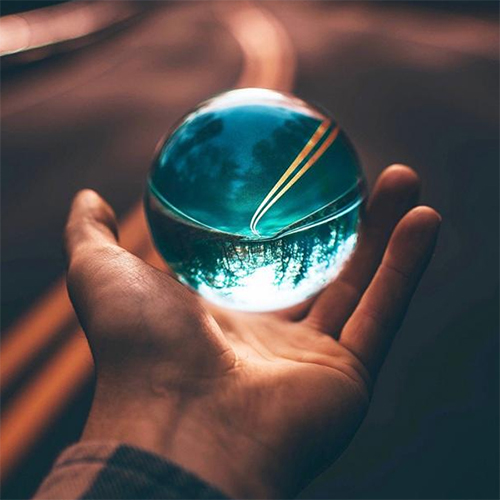 Crystal Ball    Sorry no, it want tell your future, well it could if your future is going to be turned upside down! Get those cool unique shots to keep Instagram feed banging!
