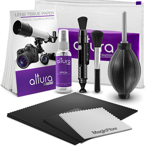 Camera Cleaning Kit    Cheap, effective and always needed. Keep your camera kit clean and tidy just like the day you purchased it.