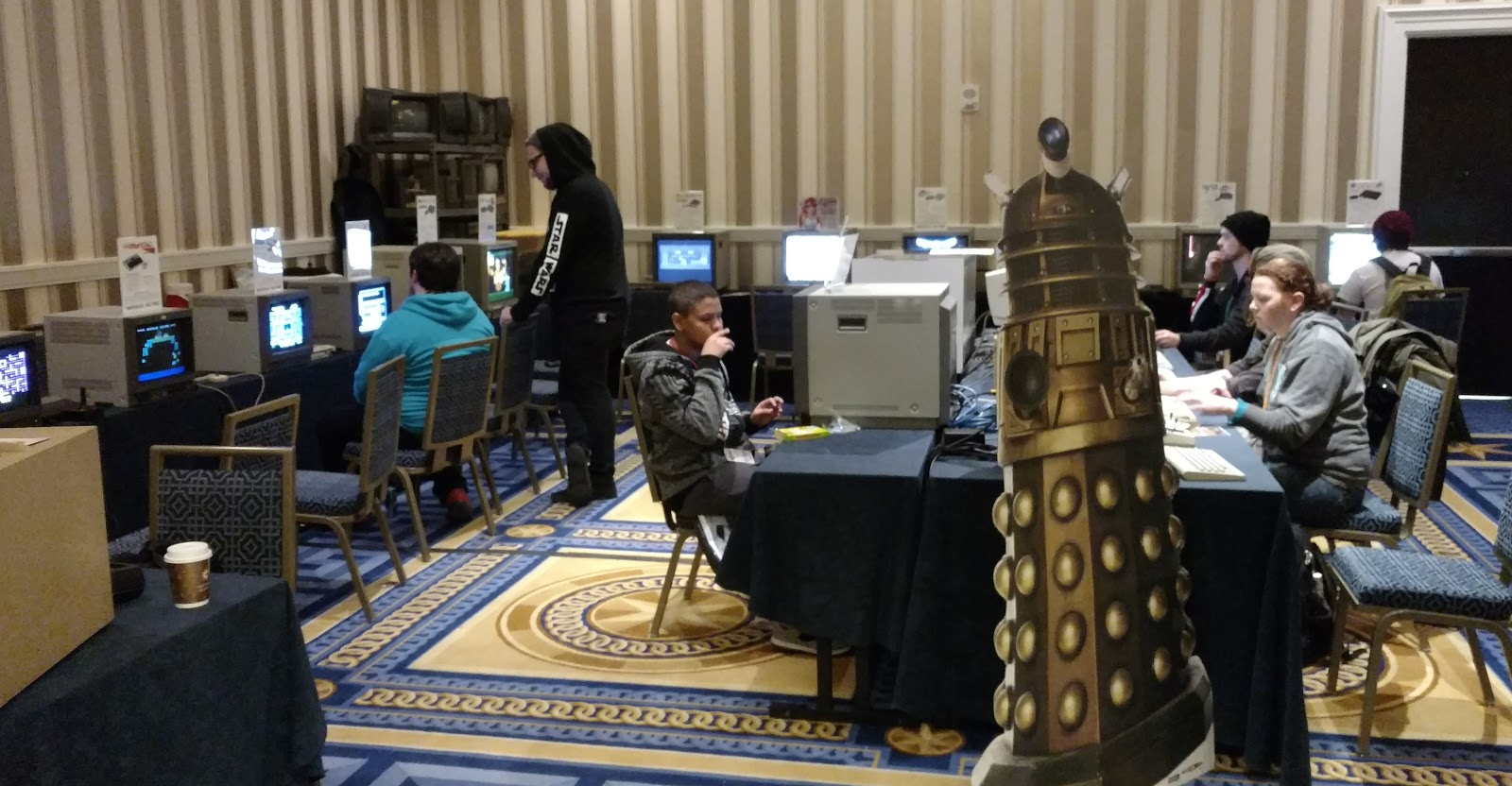 Classic consoles on professional monitors at MAGFest 2017