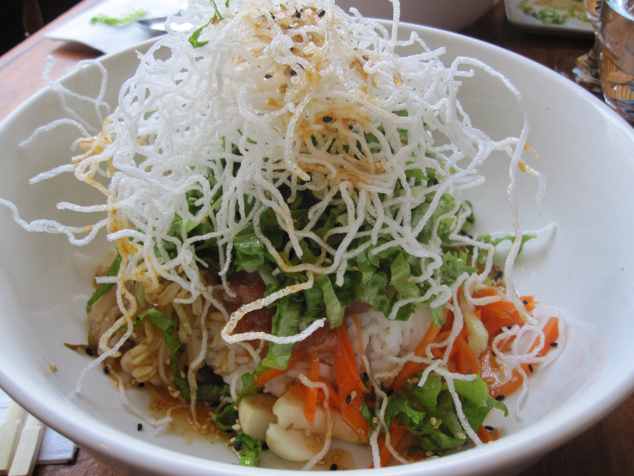 Tuna Salmon Salad Rice Bowl @ Kazu