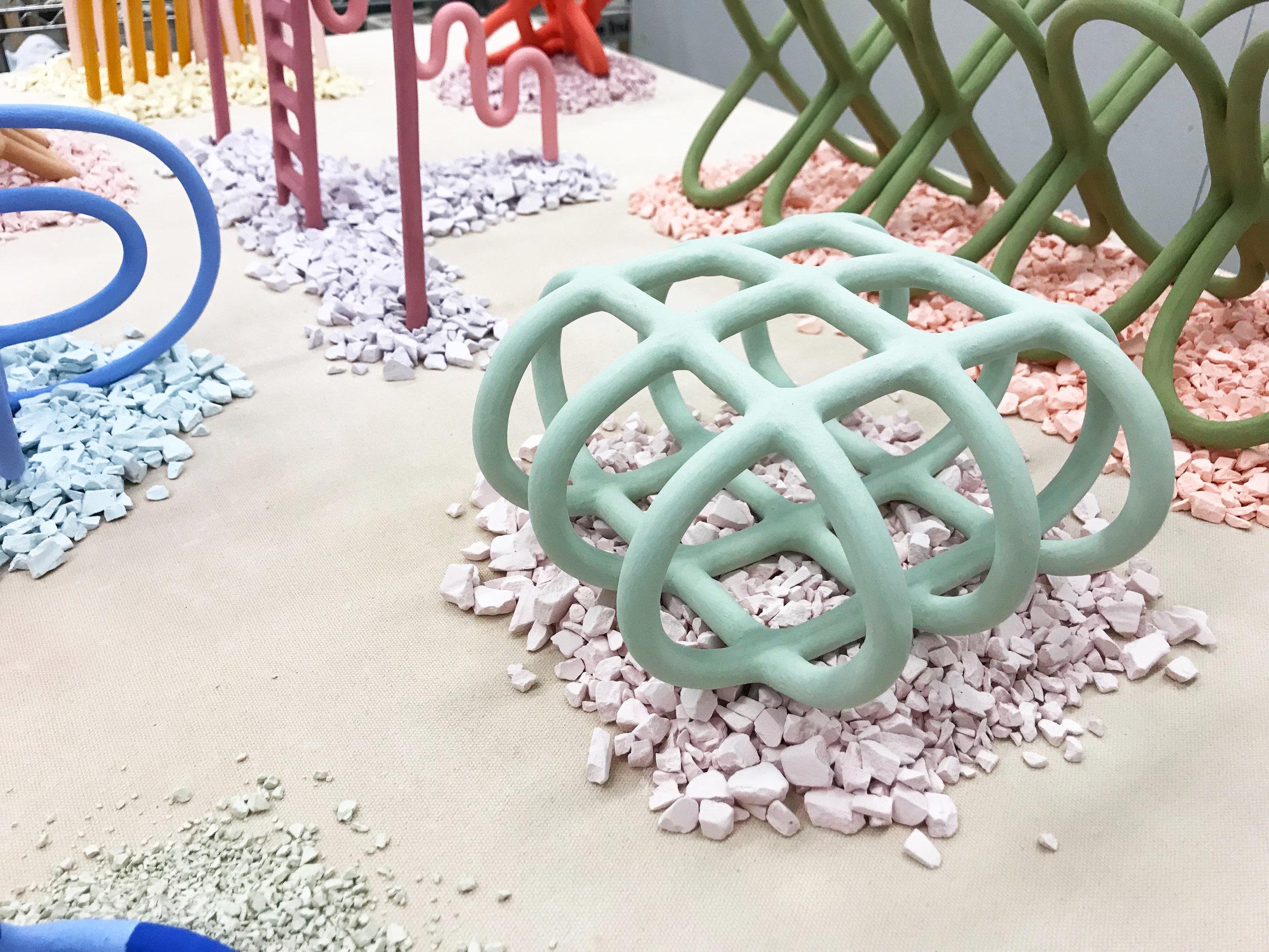 Desert Series    stoneware, porcelain, underglaze, stain   2018