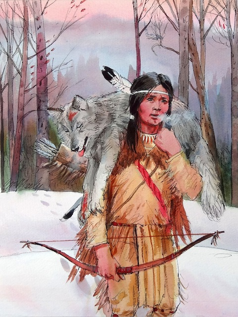 Hunting | Enemy Arrows by Will O'Hara | illustration by artist Tom McNeely
