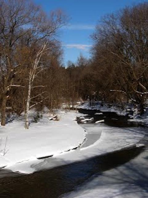 Winter river scenery   enemy arrows by will o'hara