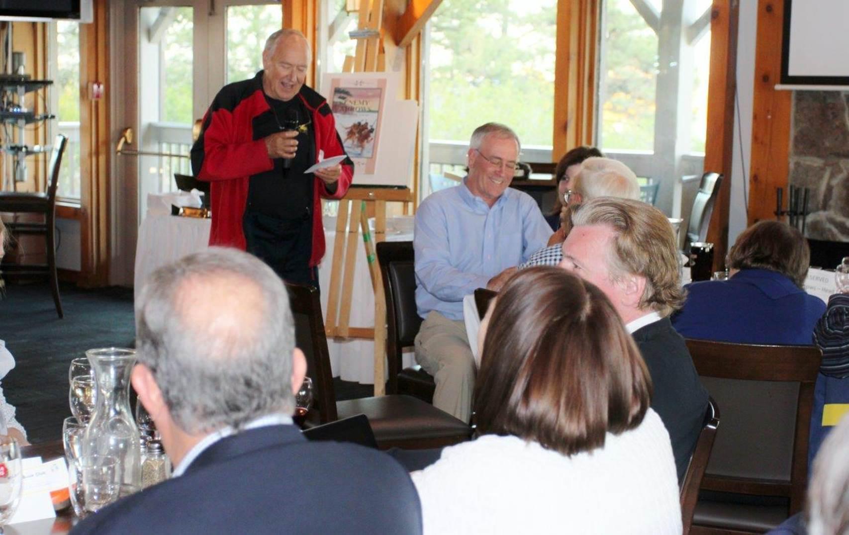 Enemy Arrows author Will O'Hara presents his book at Mimico Cruising Club