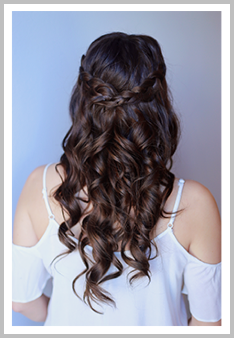 BEACHY BELLE:   Shampoo & blow dry with braids or half up style  .  Check out @vanitybelles on Instagram for our latest looks!