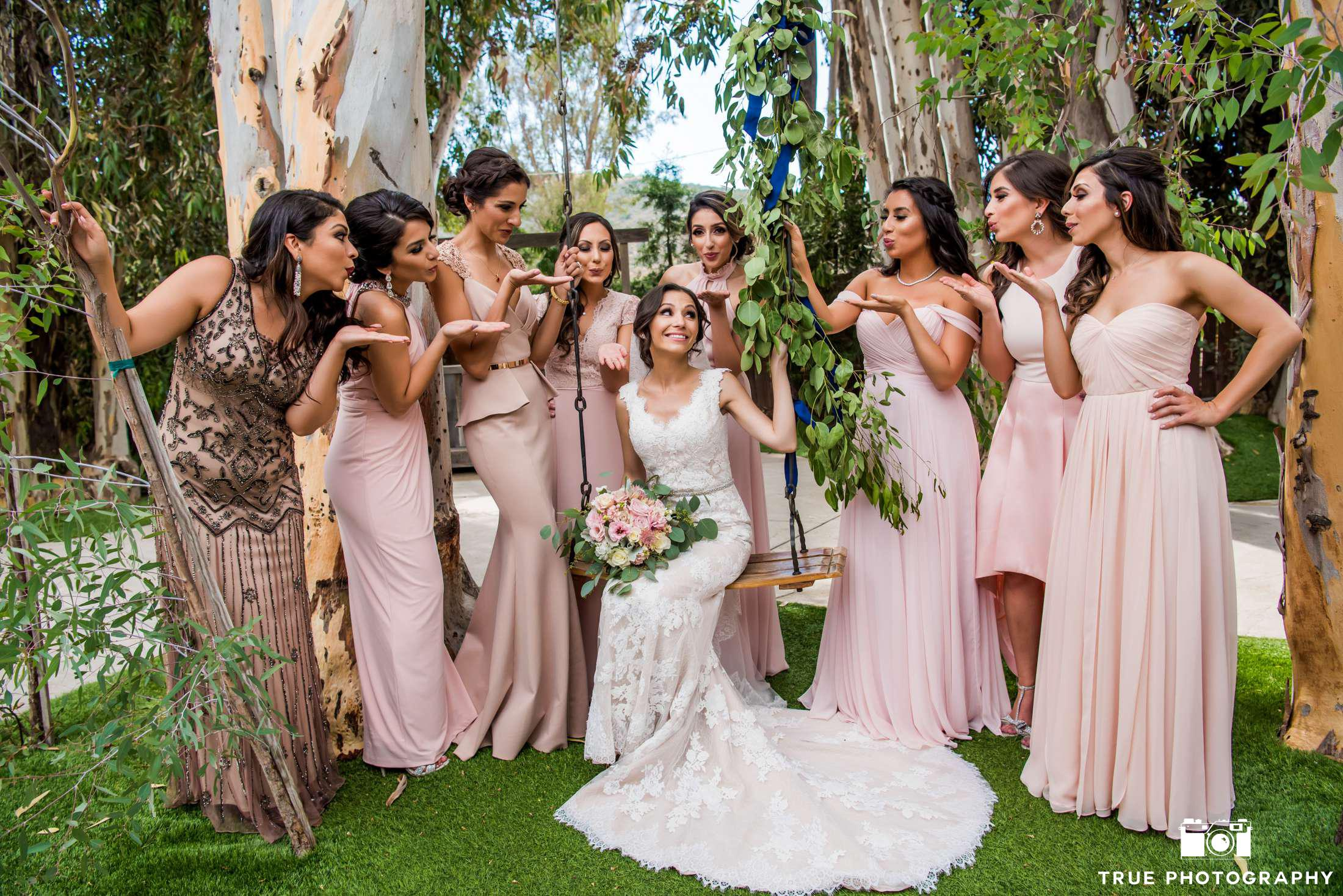 Fairy Tale Wedding Pictures with Bridal Party Dresses