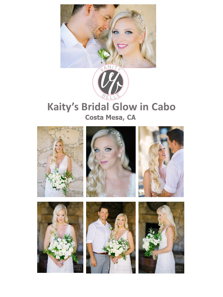 Beach wedding hair and makeup for destination wedding. Bridal style by Vanity Belle in Orange County (Costa Mesa).