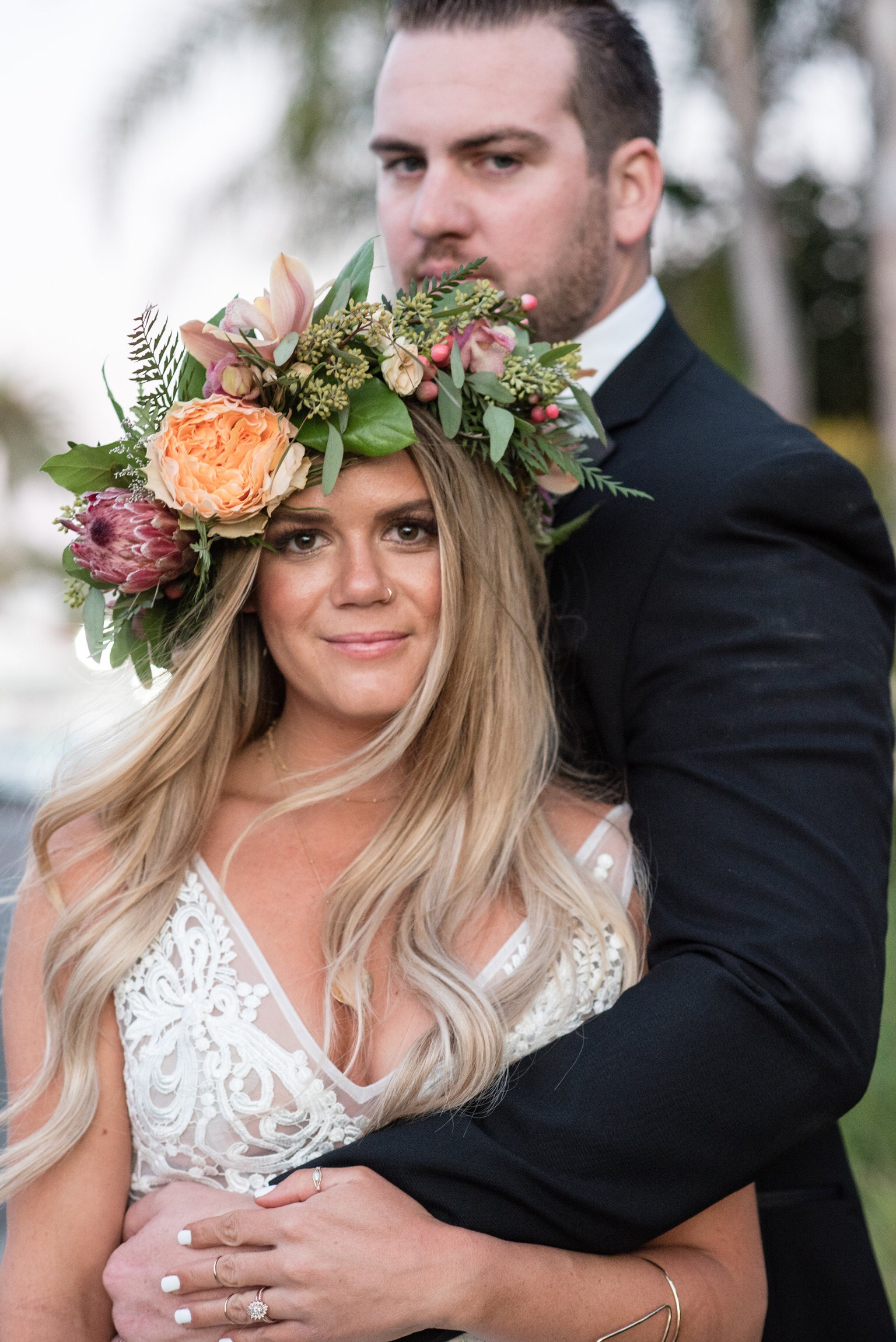 Boho bride-Orange County-thevanitybelle.com-flower crown