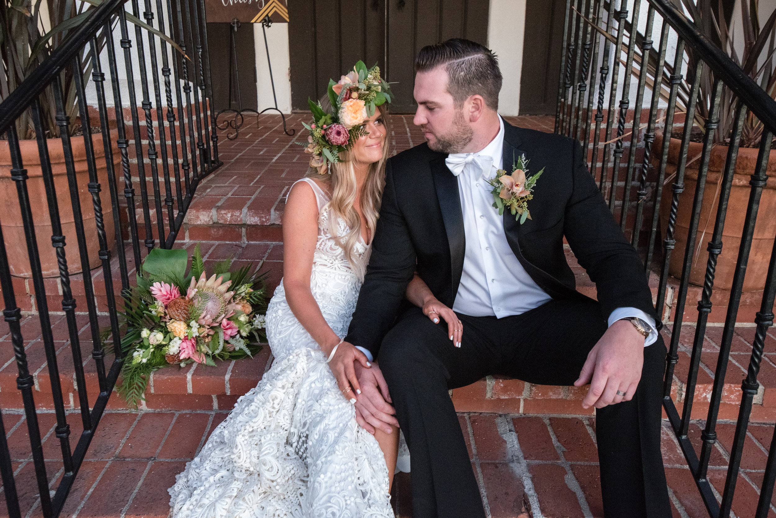 wedding day inspiration-Orange County-beach wedding-thevanitybelle.com-long wavy curls