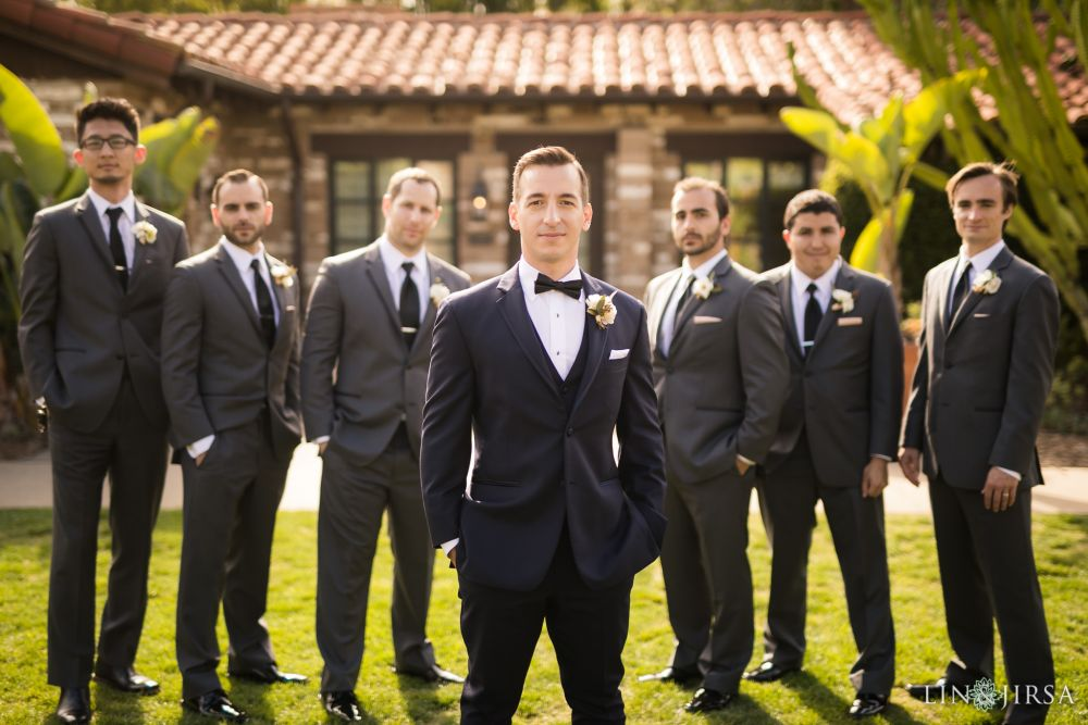 Groom with groomsmen photo.   Wedding Day Beauty by Vanity Belle in Orange County (Costa Mesa) and San Diego (La Jolla) thevanitybelle.com. Photography by Lin and Jirsa.