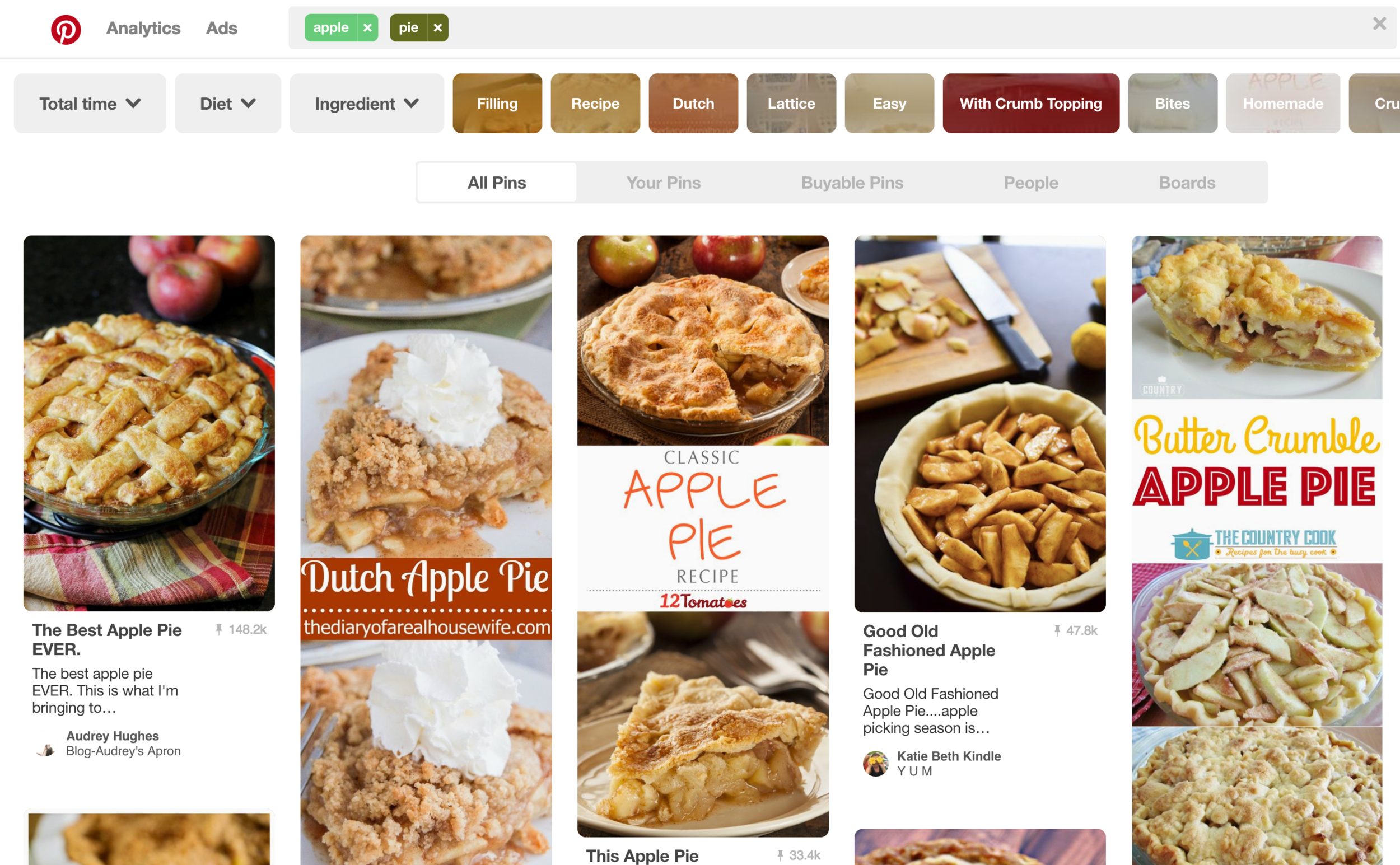 Apple Pie Recipes on Pinterest