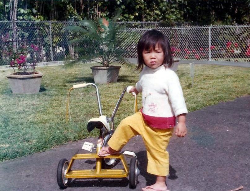 Me at my Kailua house, 1970s.